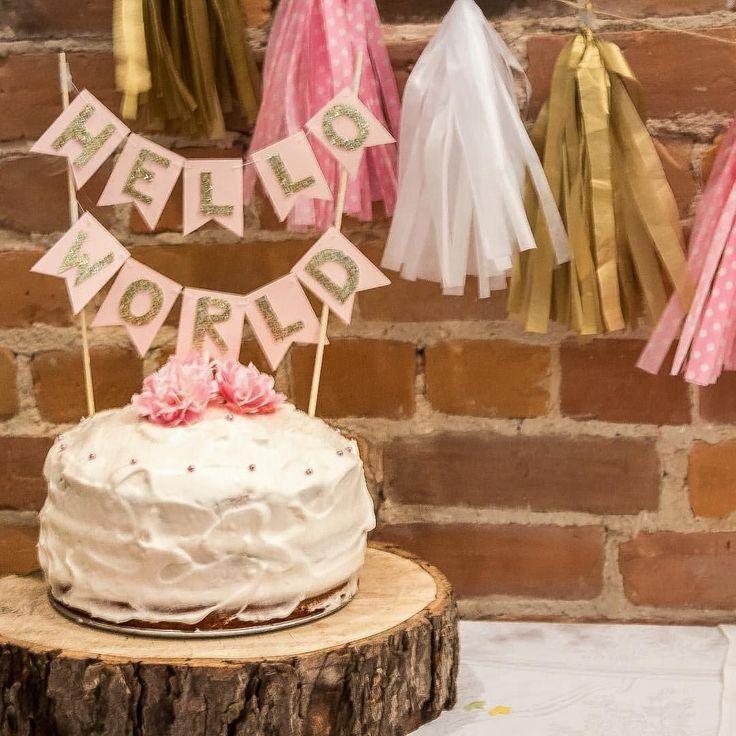 De 3874 bedste billeder fra cake decorating help p pinterest amor baby shower decor ideas for at home showers i love this little cake banner we teraionfo