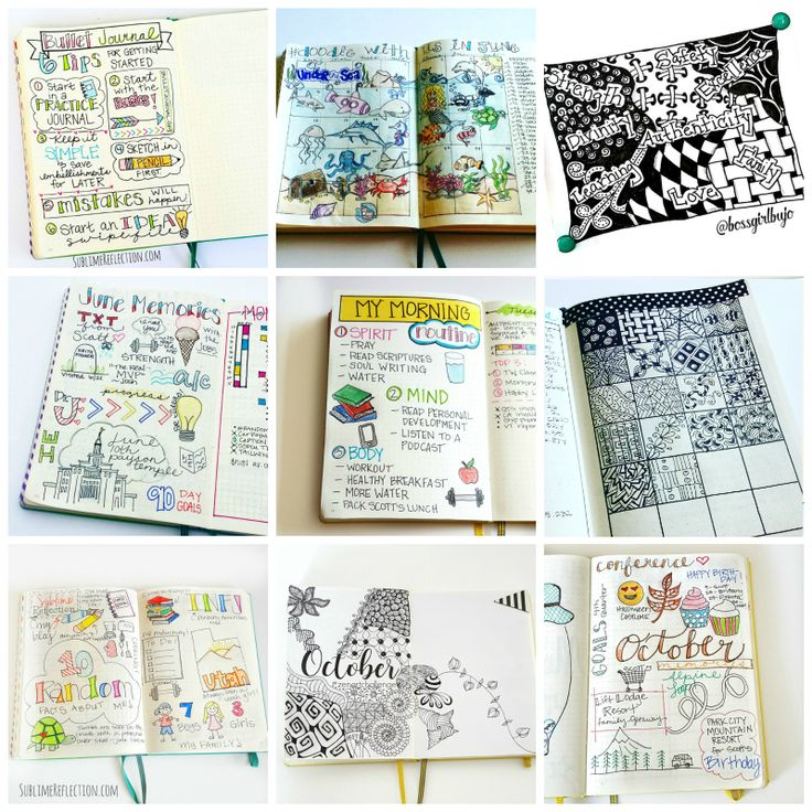 A few of my 2016 favorite bullet journal pages.
