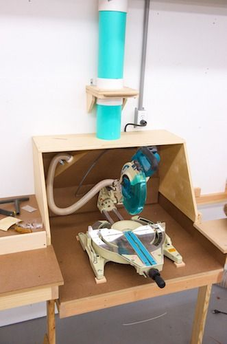Miter Saw Station dust collector