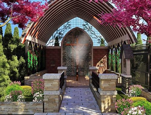 67 best rosary garden ideas images on pinterest for Prayer garden designs