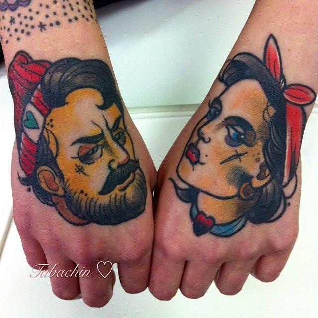 Dimitry Tabachin as featured on Swallows & Daggers. www.swallowsndaggers.net #tattoo #tattoos #girl #hand