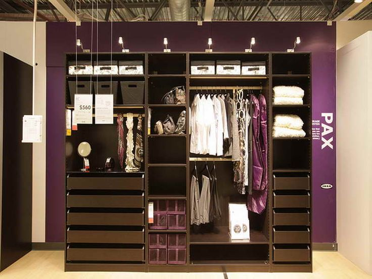 Discover The Amazing IKEA Closets Designs With Purple Wall