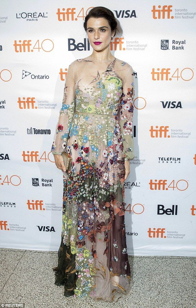 Simply stunning: Rachel Weisz looked gorgeous on Saturday, as she appeared without husband Daniel Craig, at the premiere of her new film Youth at the Toronto Film Festival