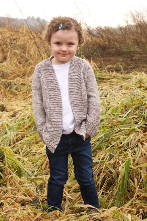 Free knitting pattern for Harvest Cardigan - Easy seamless cardigan by tincanknits that is perfect for a first sweater project. Sizes for baby, child, and adult from newborn to 4XL. Make one for everyone in the family!