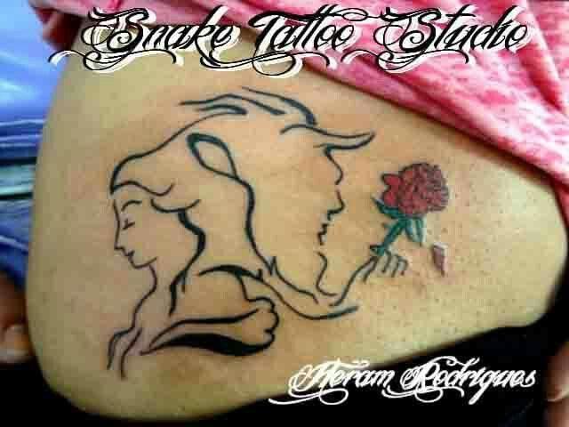 Heram Rodridues >> Snake Tattoo Studio  - Guarulhos - SP - Brasil -   tel  11 23588641   (A BELA E A FERA )