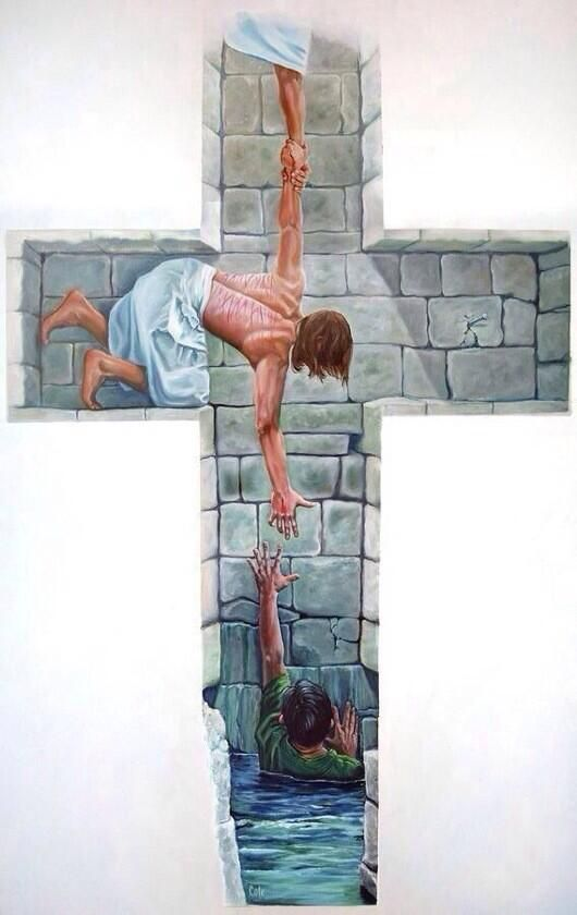 This is a powerful photo because it lets people know for those who believe in God, that he is always there when your in need of help and wouldn't leave you struggling. Powerful picture