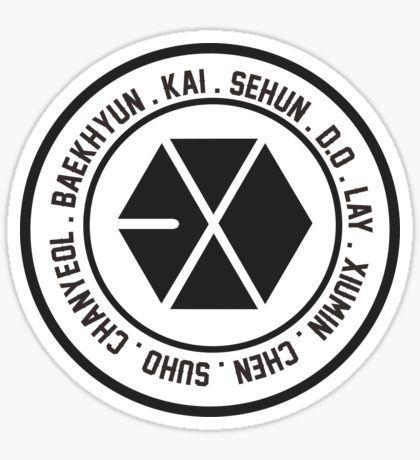 EXO OT9 member Sticker