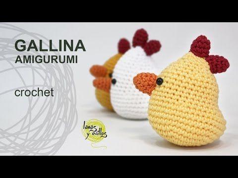 Tutorial Gallina Amigurumi Pascua - YouTube