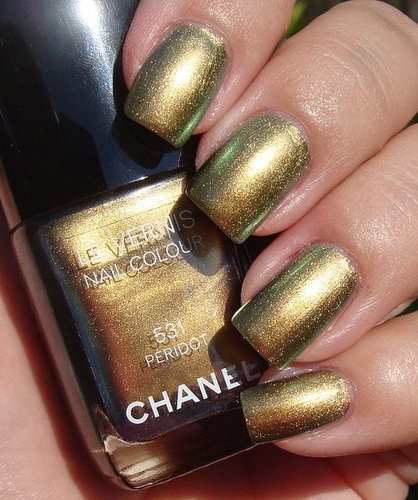 Chanel Peridot Nail Polish- Great for the holiday season!