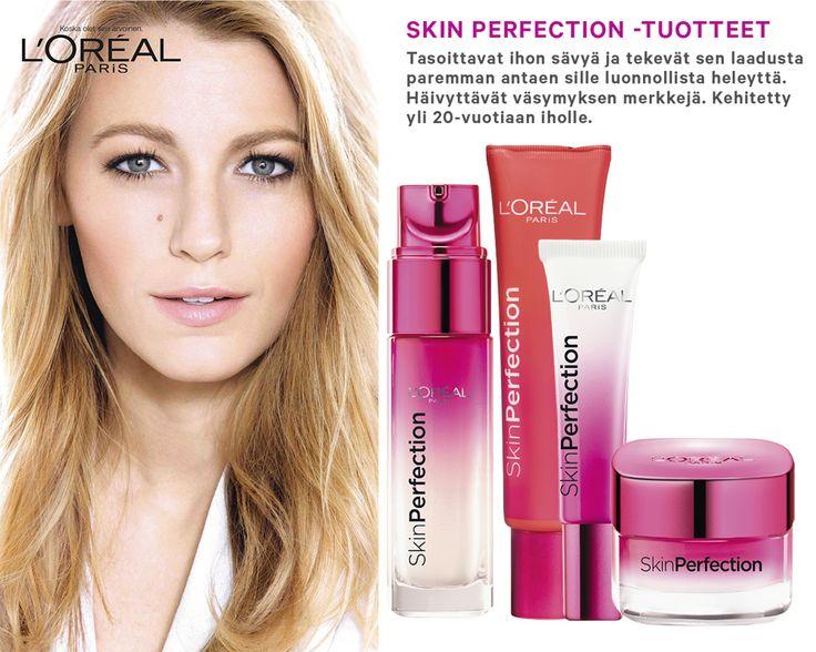 SKIN PERFECTION -TUOTTEET Tasoittavat ihon sävyä ja tekevät sen laadusta paremman antaen sille luonnollista heleyttä. Häivyttävät väsymyksen merkkejä.