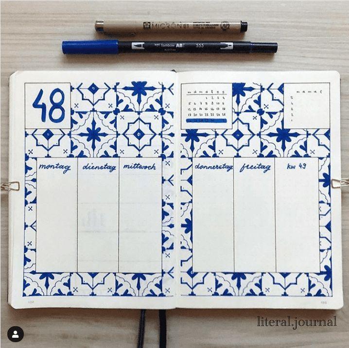 15 Super erstaunliche geometrische Bullet Journal Layouts