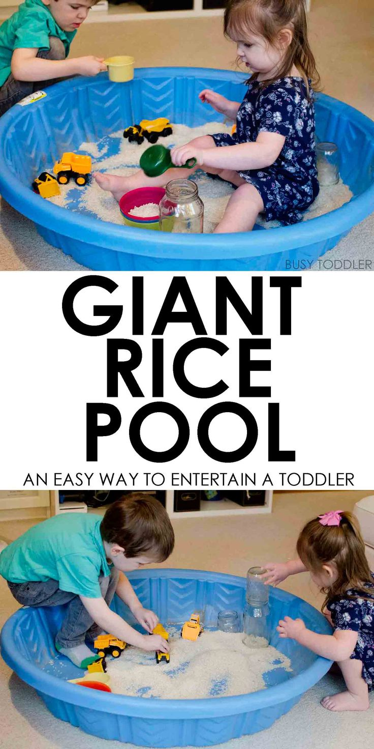 Giant Rice Pool Sensory: What a brilliant way to keep toddlers entertained! A large scale sensory activity. A super cool indoor activity that's quick and easy to see up.