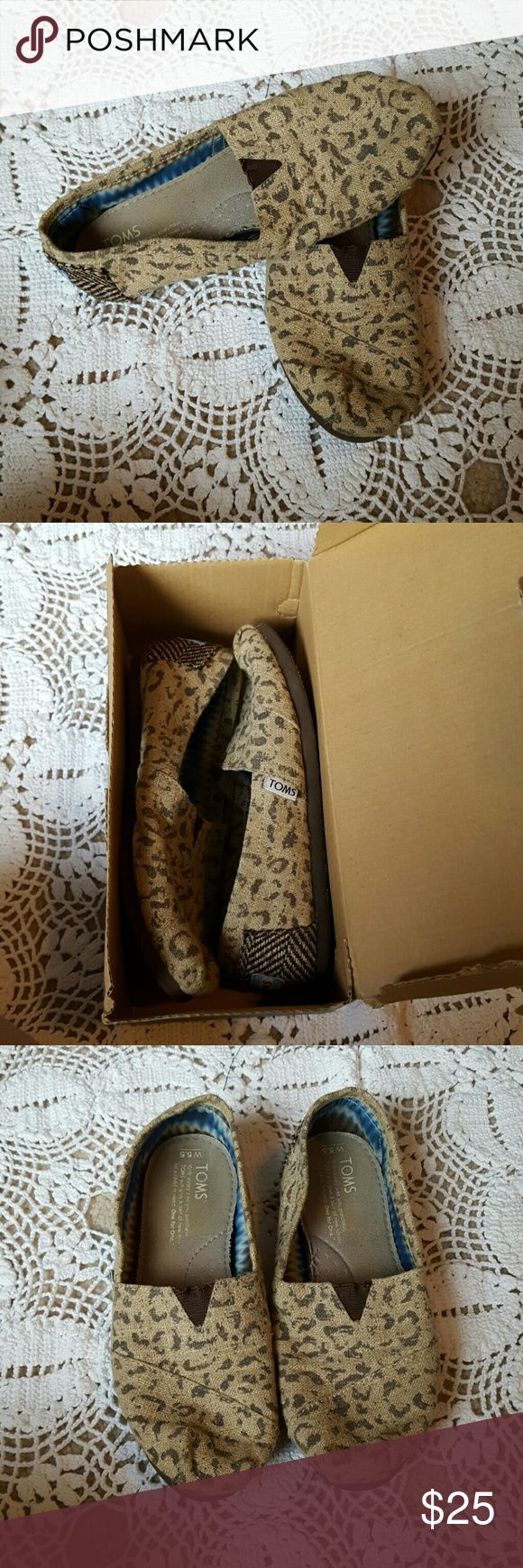 Snow Leopard Toms Snow Leopard Toms. Brand new W/box TOMS Shoes Flats & Loafers