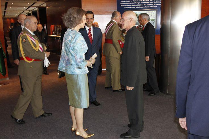 Visita de Sus Majestades los Reyes de España y los Principes de Asturias al Hotel AC Málaga Palacio by Marriott por el Día de las Fuerzas Armadas