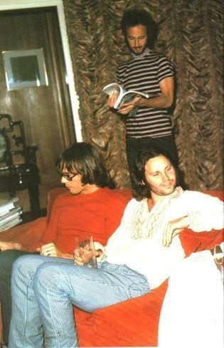 Bill Siddons, JIm Morrison & Robby Krieger (In the back standing).
