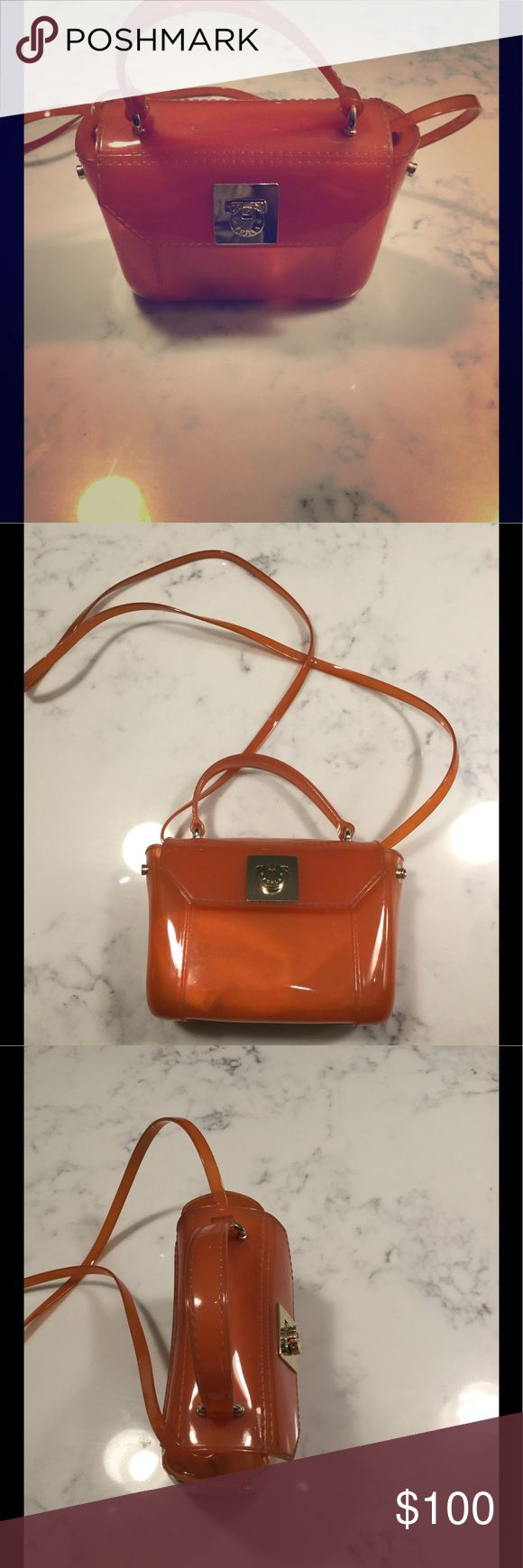 Furla Crossbody Furla Crossbody with removable straps. Orange PVC rarely used. Furla Bags Crossbody Bags