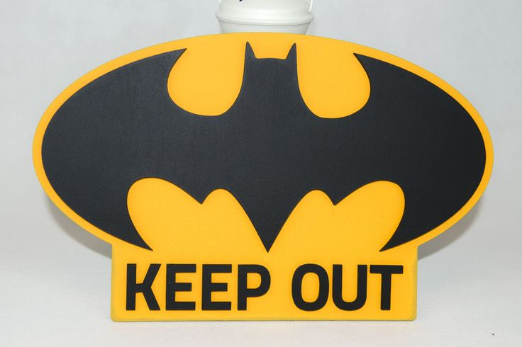 Batman a wodden door plaque, sign, Keep Out