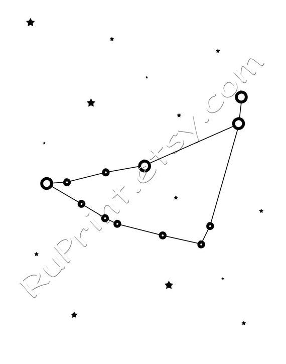 picture relating to Constellation Printable identify Capricorn constellation print, Capricorn artwork, Printable