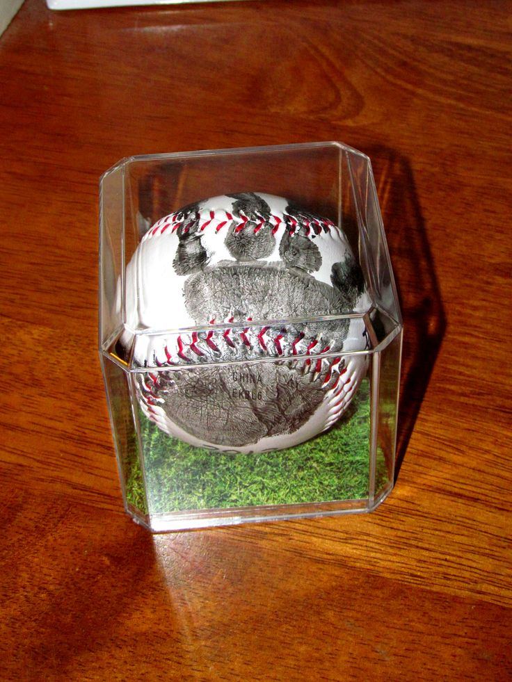 1st year of tball... gift for Daddy and Grandpa ...or in my case baseball for great grandpa and football for grandpa