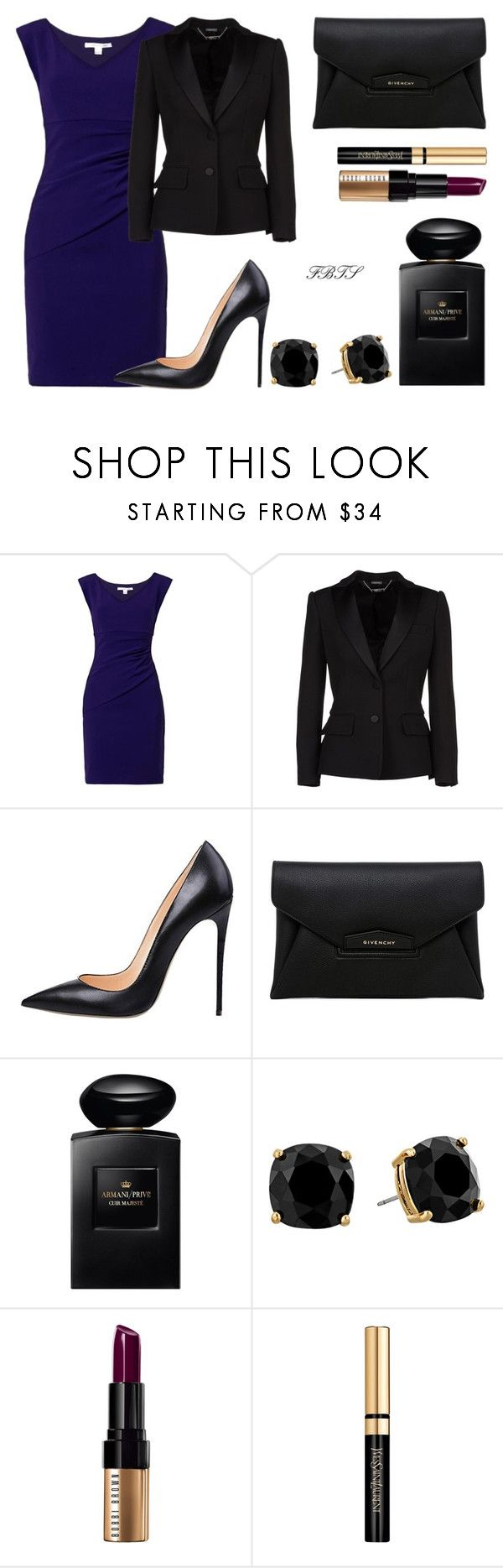 """""""Feeling Like A Royal Lady"""" by flybeyondtheskies ❤ liked on Polyvore featuring Diane Von Furstenberg, Alexander McQueen, Givenchy, Giorgio Armani, Kate Spade, Bobbi Brown Cosmetics and Yves Saint Laurent"""