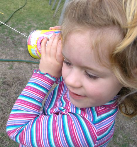 Did you ever make a tin can telephone as a child? Taking turns with a friend to share very important messages. Fascinated with how it could possibly work, that you could those secret messages trave...