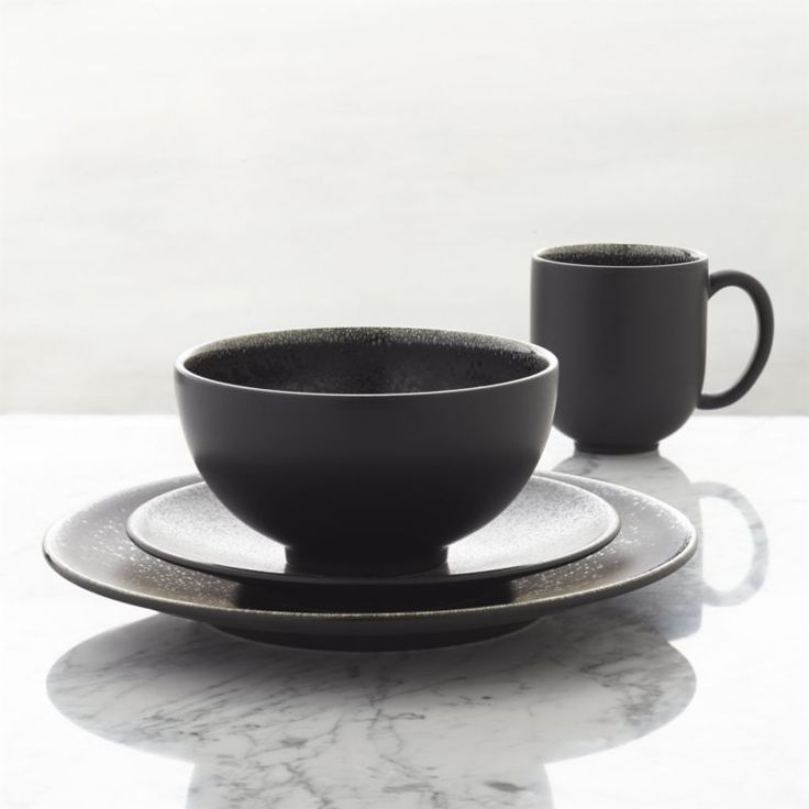 Shop Jars Tourron Black Dinnerware.  Handcrafted by a famed French ceramics factory founded in 1857, our casual, elegant dinnerware collection is all about the glaze.