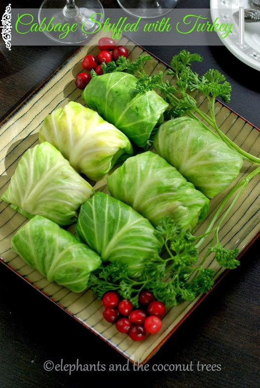 elephants and the coconut trees: Cabbage Roll / Stuffed Cabbage with Turkey