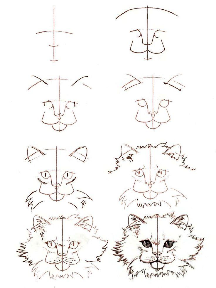 Рисунки поэтапно сложные и интересные