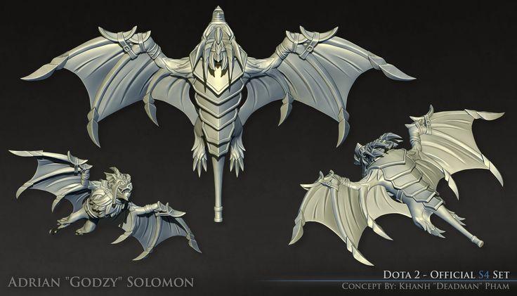 Dota 2 - Official S4 Batrider Set [High Poly], Adrian Solomon on ArtStation at https://www.artstation.com/artwork/dota-2-batrider-set