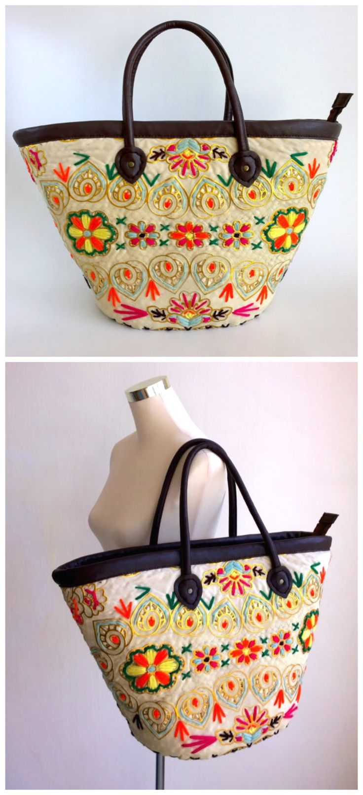 Boho Basket Bag - Raffia Drawstring Bag - Tote bag