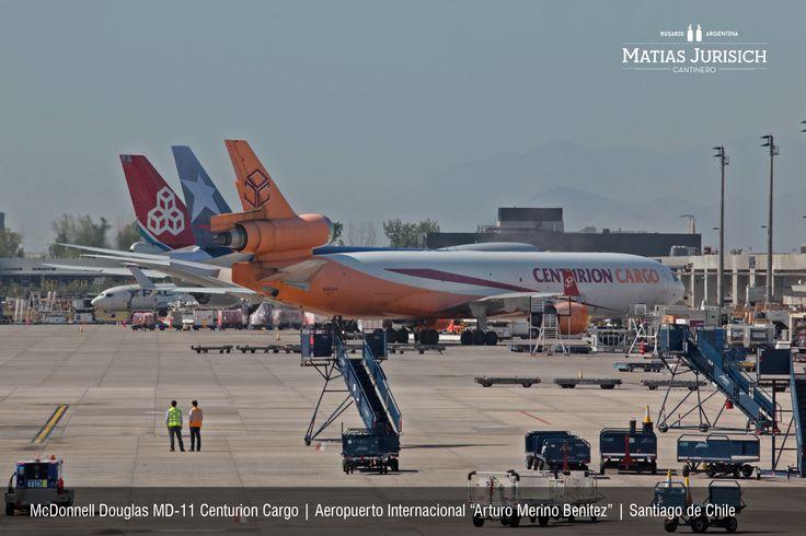 "McDonnell Douglas MD-11 Centurion Cargo   Aeropuerto Internacional ""Arturo Merino Benitez""   Santiago de Chile"