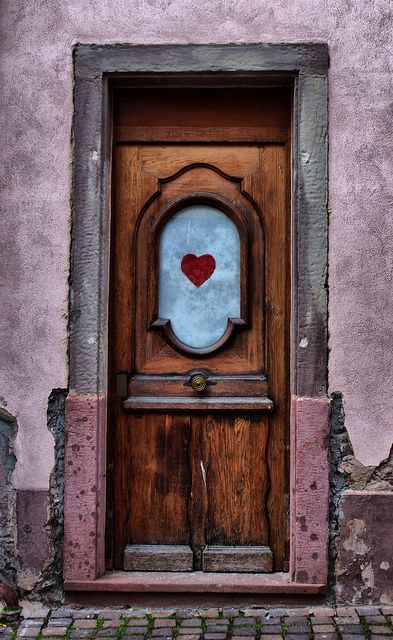 "RIBEAUVILLE, ALSACE, FRANCE | Flickr - Photo Sharing!\ How Simple yet Beautiful & filled w' meaning - ""you're welcome here""<3<3<3 it."
