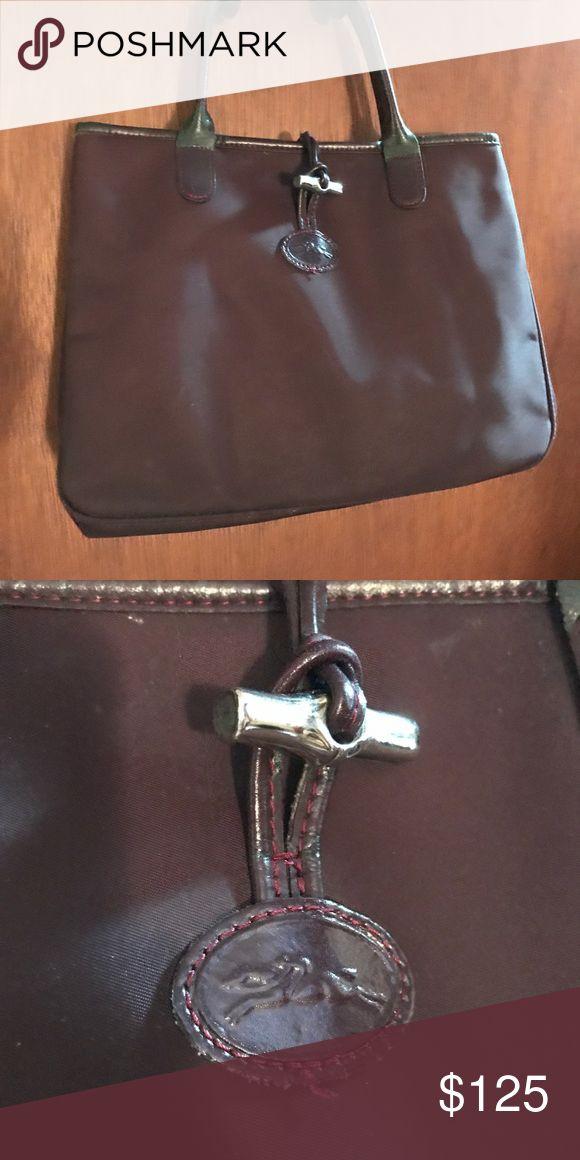 Longchamp Women's Purse Beautiful Burgundy Longchamp Women's Purse. Small Marks with Wear. Wonderful Christmas Present!! Longchamp Bags Satchels