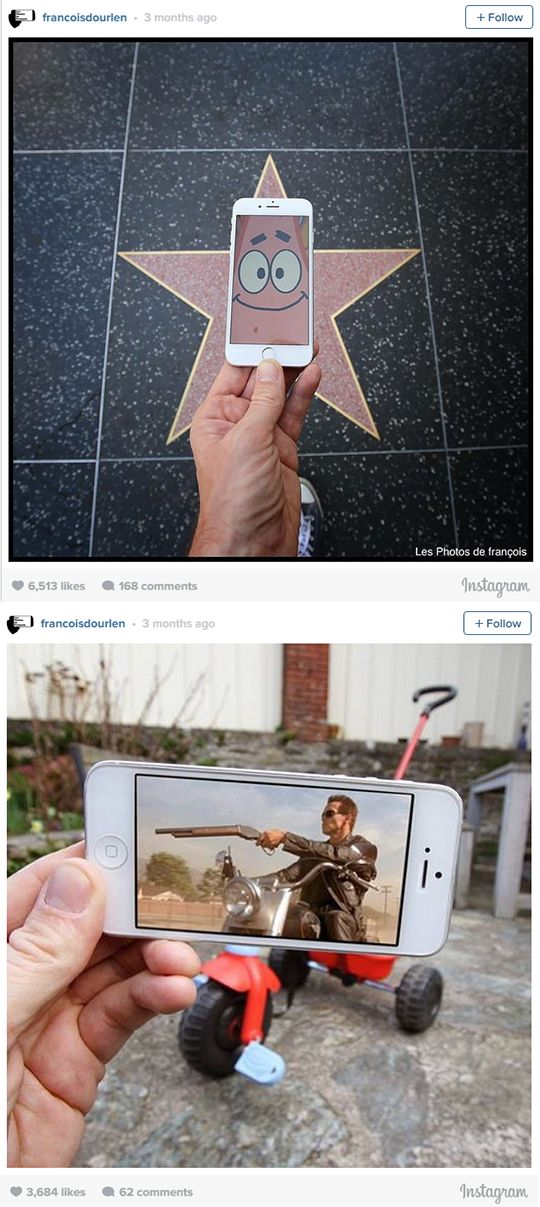 This Guy Uses His iPhone To Insert Pop Culture Characters Into Real Life