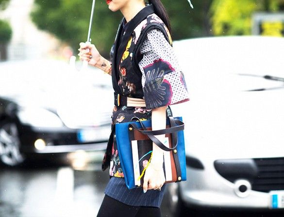Style Tip: Cinch the waist of your kimono with a multi-textured belt.