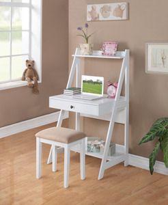Girls white Desk and stool $155