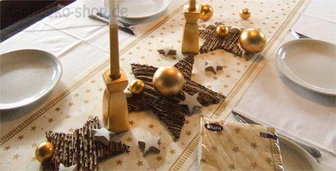 Tischdeko Weihnachten Gold