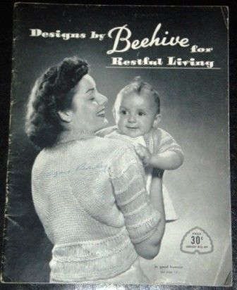 vintage craft book  DESIGNS by BEEHIVE for by WritersCraftToo, $12.00