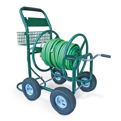 Liberty Garden Residential and Industrial 4 Wheel Hose Reel Cart