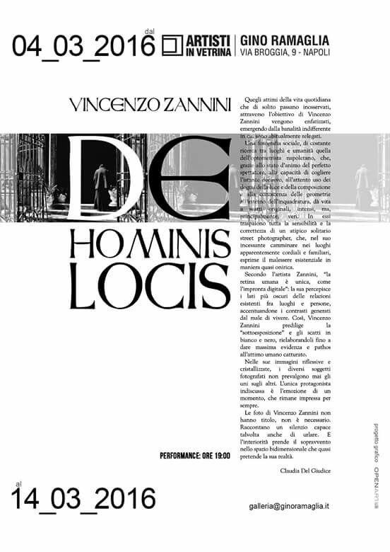 """Claudia Del Giudice per Vincenzo Zannini """"De Hominis Locis"""" / Gino Ramaglia - Artisti in Vetrina, Napoli 4>14 marzo 2016"""