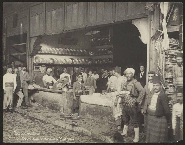 1884 çekilmiş osmanlı kebapçı fotoğrafı