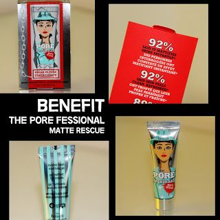 MichelaIsMyName: BENEFIT The Pore Fessional Matte Rescue REVIEW
