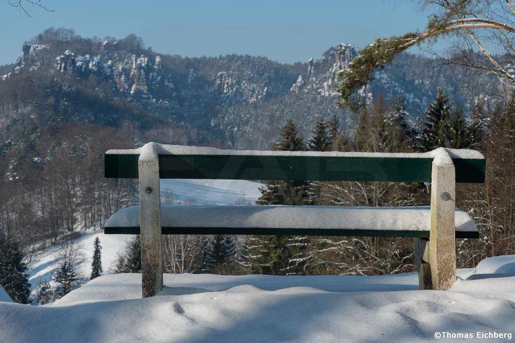 Der Winter macht im Elbsandsteingebirge erst einmal eine Pause.