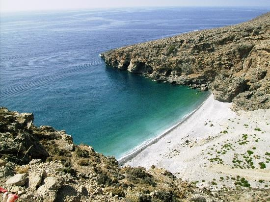 Crete, Greece: One of secluded beaches near Sfakia