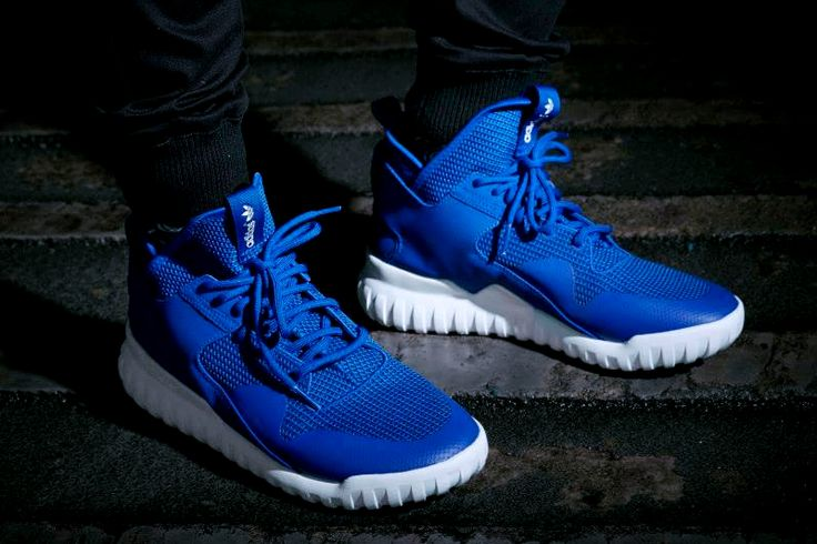 Adidas Tubular Blue On Feet