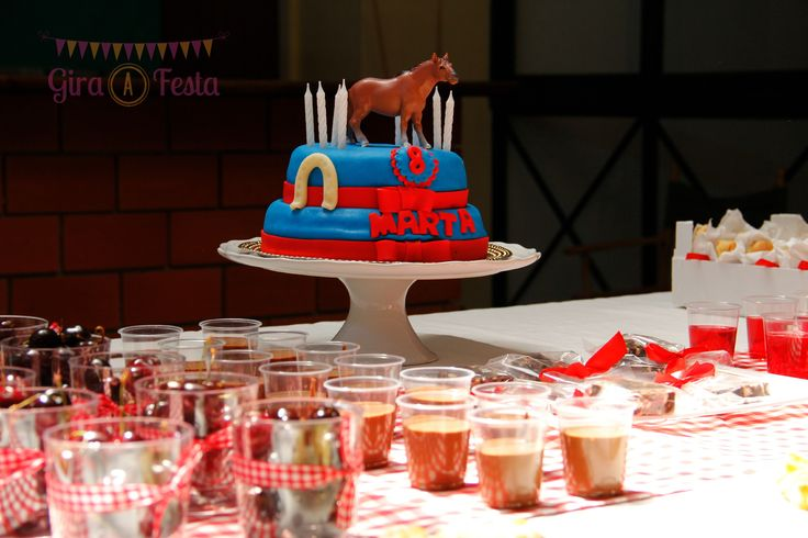 Details from equestrian birthday party.f