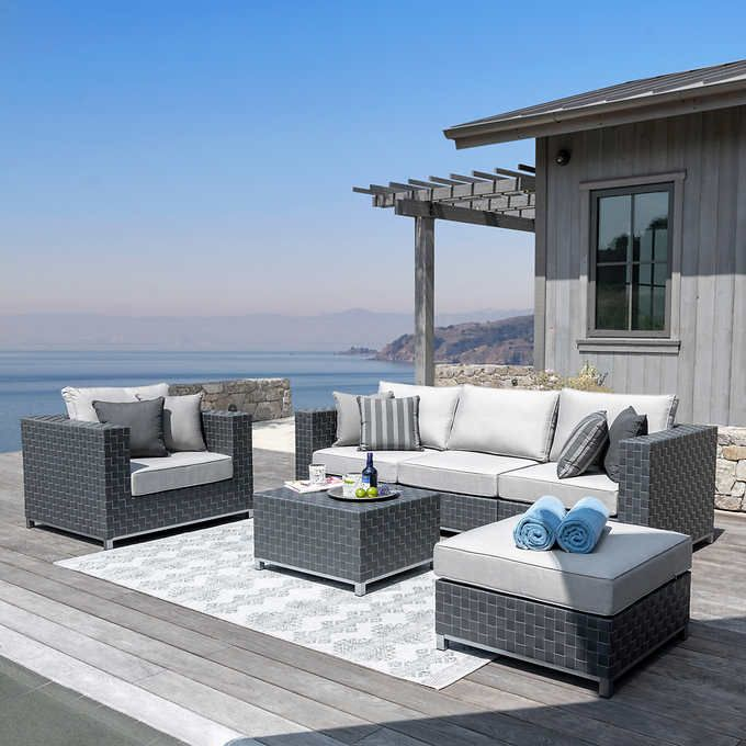 Soho 6 Piece Patio Seating Set In 2020 Patio Furniture Cushions