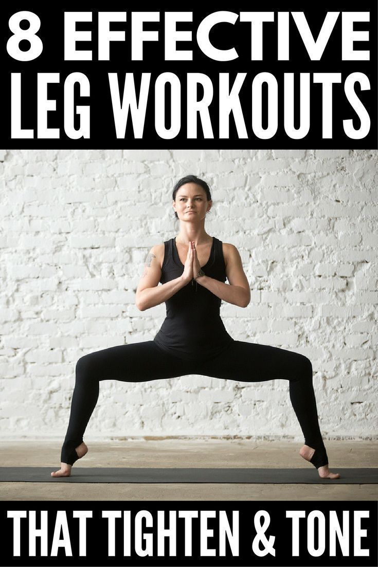 8 Slimming Leg Workouts You Can Do Anywhere   Want to know how to get skinny legs fast? You're in luck! Whether you like to workout at the gym or at home, we've got 8 no equipment workout videos for women to help you tighten and tone your inner and outer thighs and get sexy, skinny legs. Perfect for beginners, runners, and everyone in between, we've even included a 30-day thigh slimming challenge to keep you motivated! #legworkout #legsfordays #weightloss #workout #burnfat
