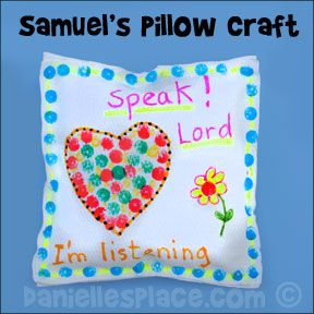 Samuel's Pillow Bible Craft for Sunday School from www.daniellesplace.com