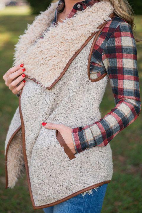 So Fur-real Vest, Beige - The Mint Julep Boutique